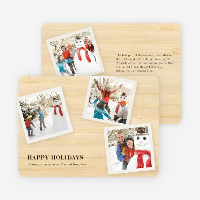Classic Collection Holiday Photo Cards - Champagne