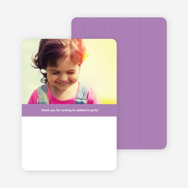 Modern Photo Thank You Card - Lilac