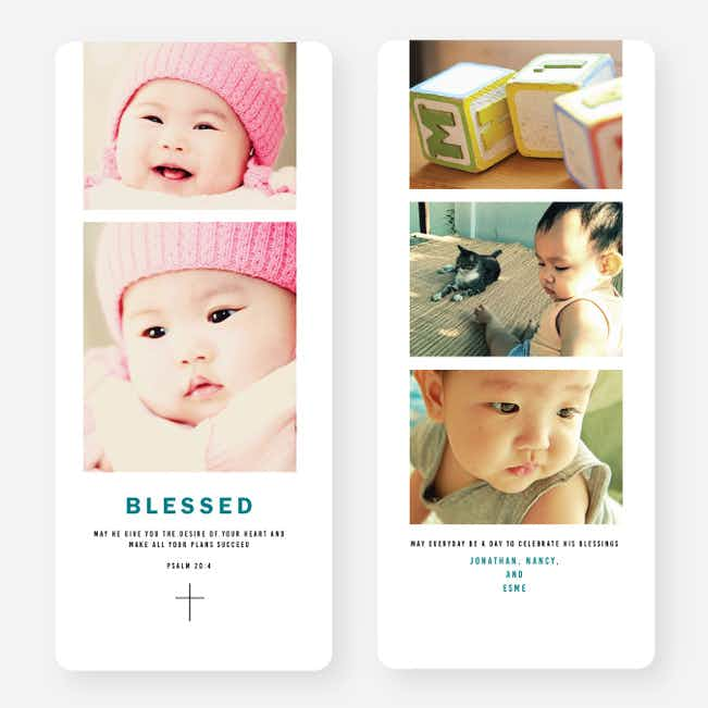 Blessed Cross Christmas Cards - Blue