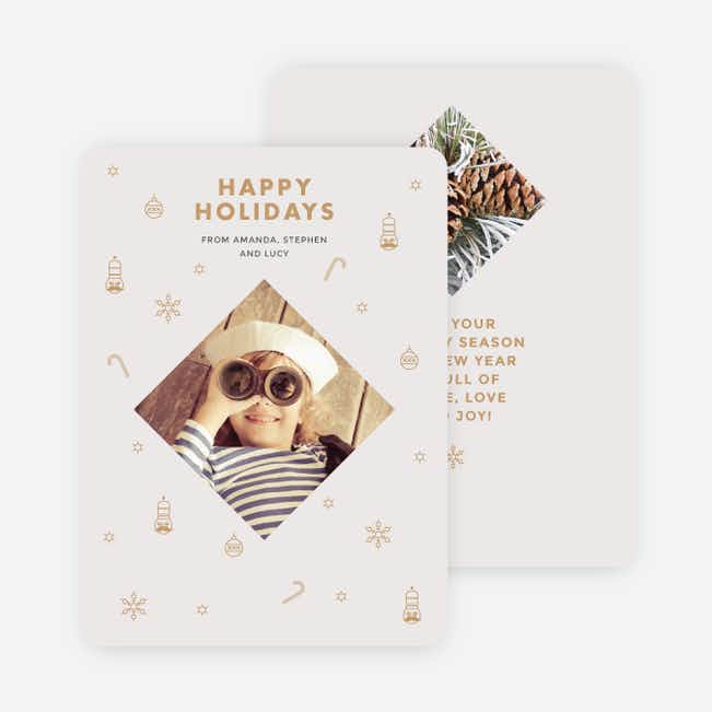 Festive Icons Holiday Cards - Beige
