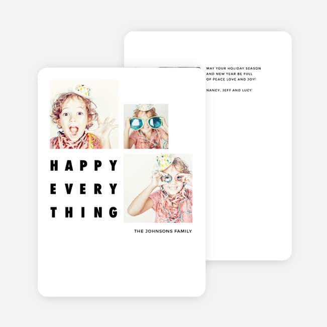 Fun Photos Holiday Cards - White