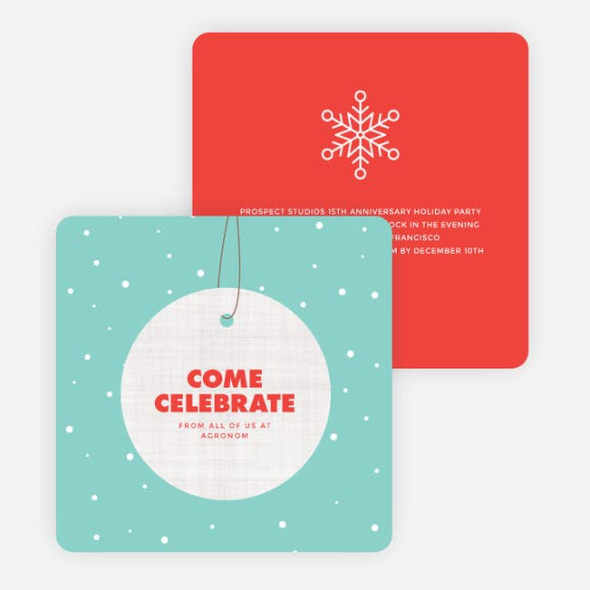 hanging ornament holiday party invitations paper culture