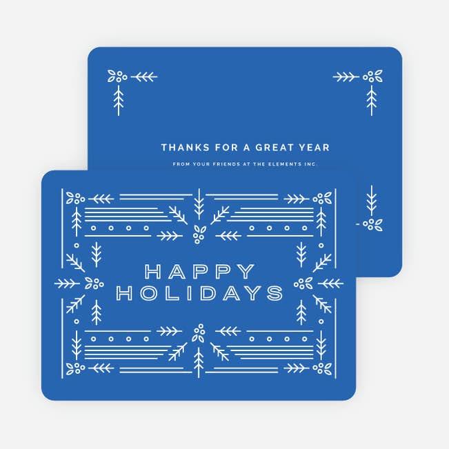 modern holly main - Modern Holiday Cards