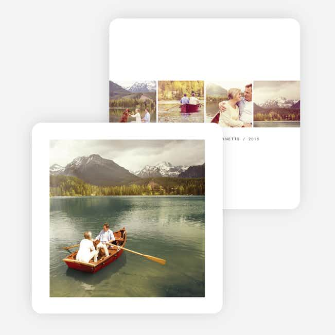 Photo-centric Holiday Cards - Black