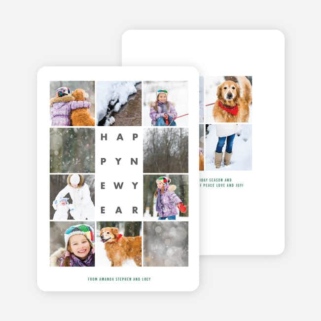 Picture This New Year Cards - Green