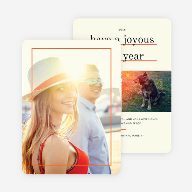 Standout Holiday Cards - Orange