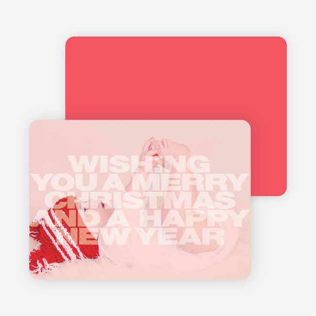 Holiday Cards: Peace, Love & Joy - Red
