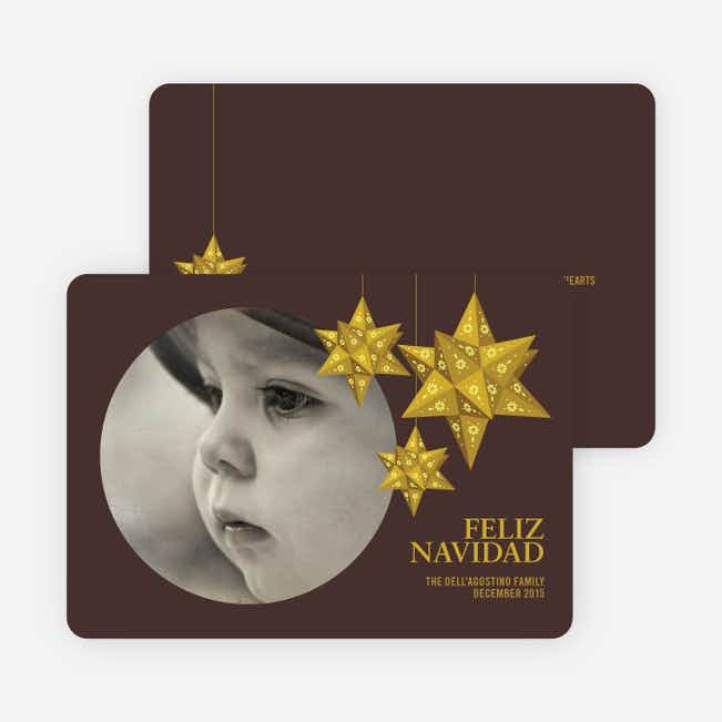 Feliz Navidad Photo Cards - Gold