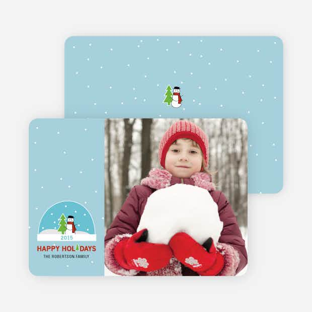 Snow Globe Holiday Card - Main