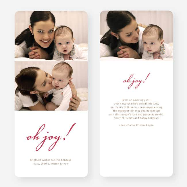Oh Joy Holiday Photo Cards - Red