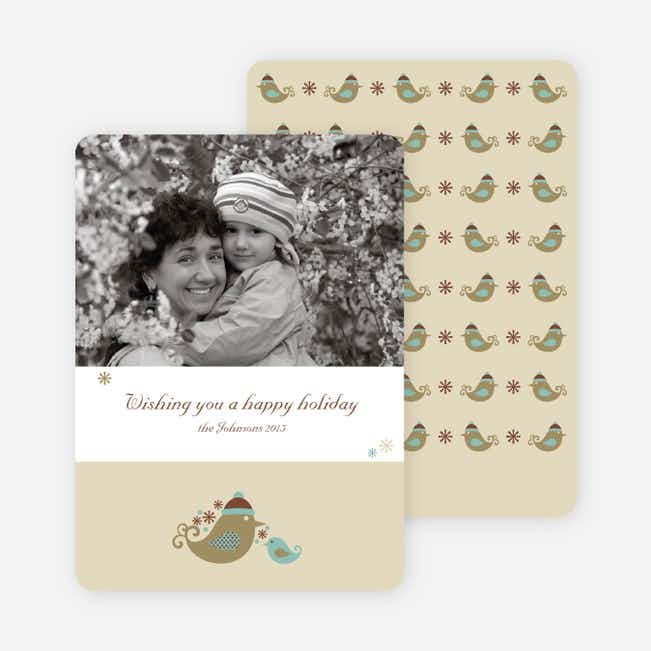 Parent and Child Holiday Photo Cards - Khaki