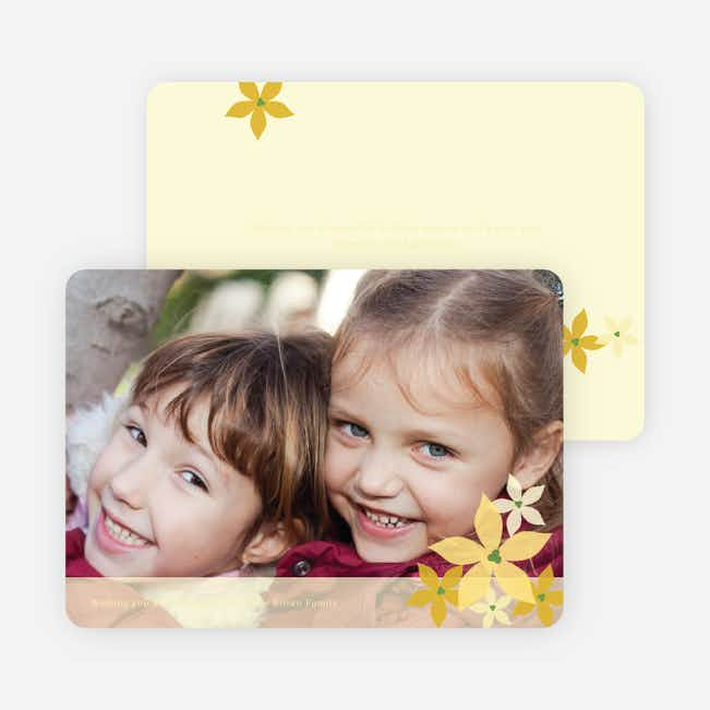 Poignant Poinsettia Holiday Photo Card - Daffodil