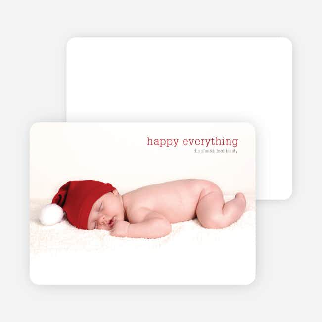 Bare Essentials Holiday Cards - Sangria