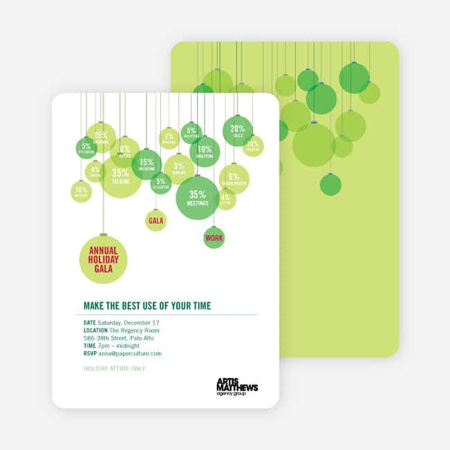 Corporate Holiday Party Invitations - Apple Green