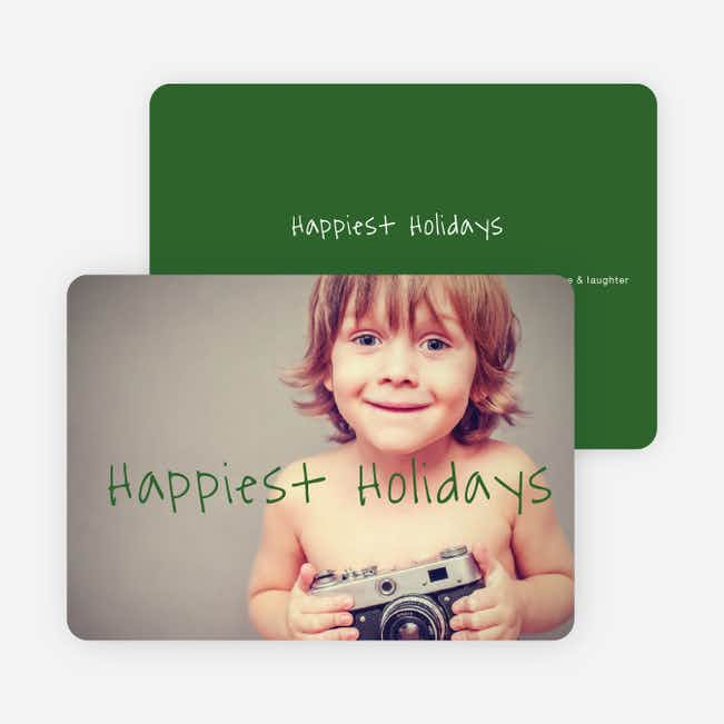 Happiest Holidays Cards - Green