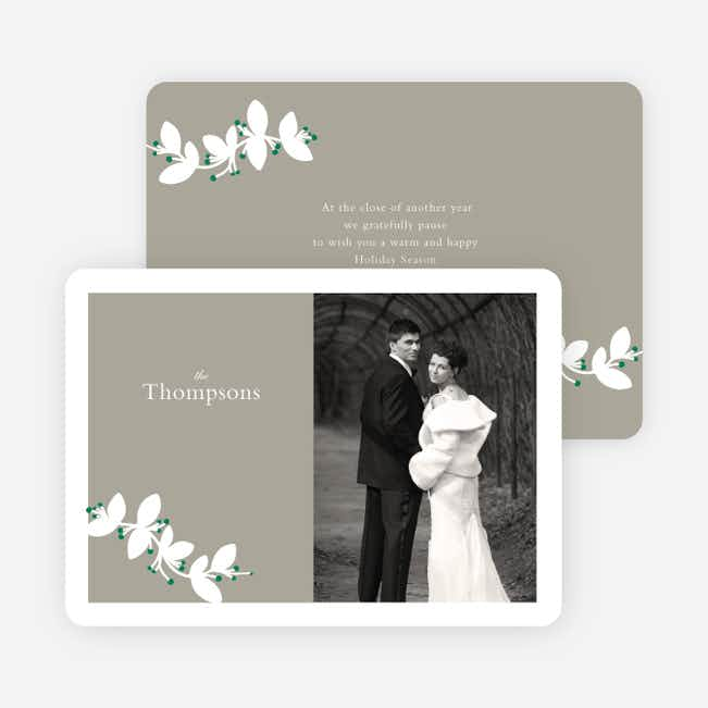 Holiday Branch Photo Cards - Green