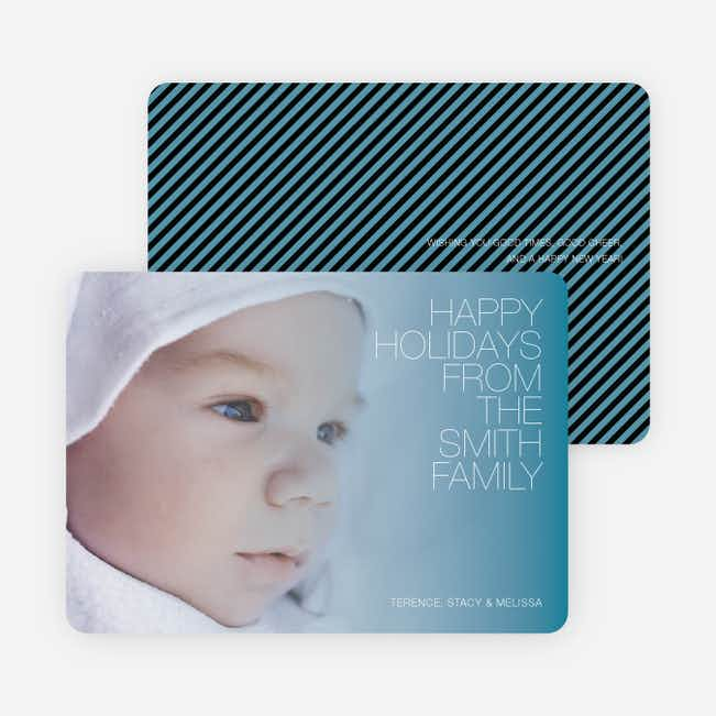 Holiday Memories Photo Cards - Periwinkle Blue