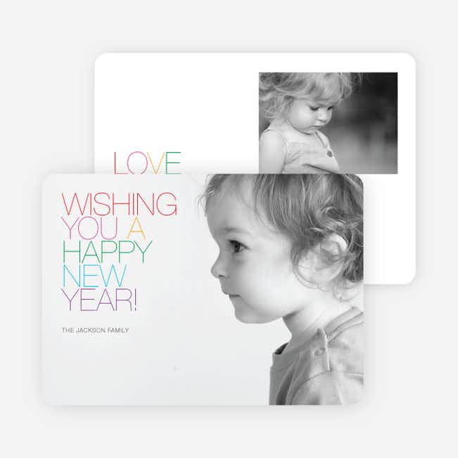Merry Xmas + Happy New Year Photo Cards - Multi