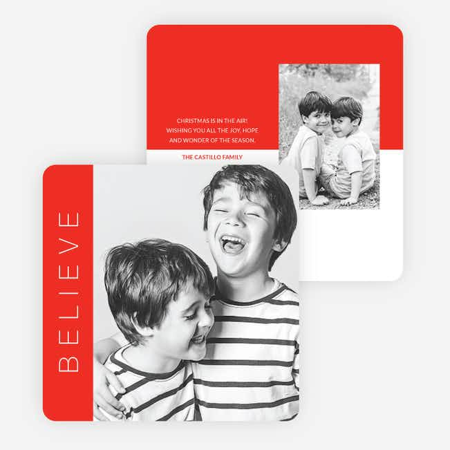 Stripes of Color Holiday Cards - Red