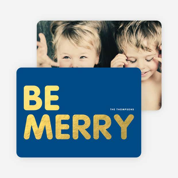 Be Merry Foil - Main