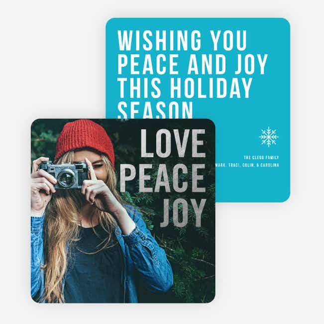 Big and Bold Foil Holiday Cards - Blue