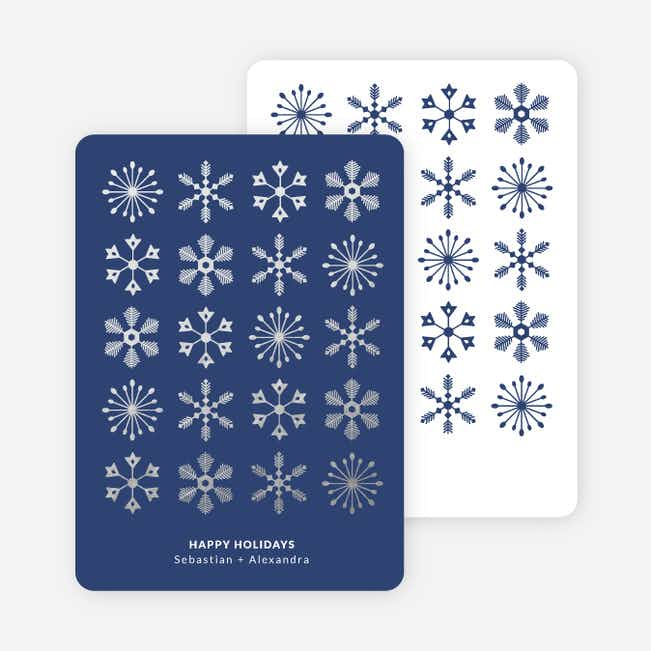 Snowflakes Galore Holiday Cards - Blue