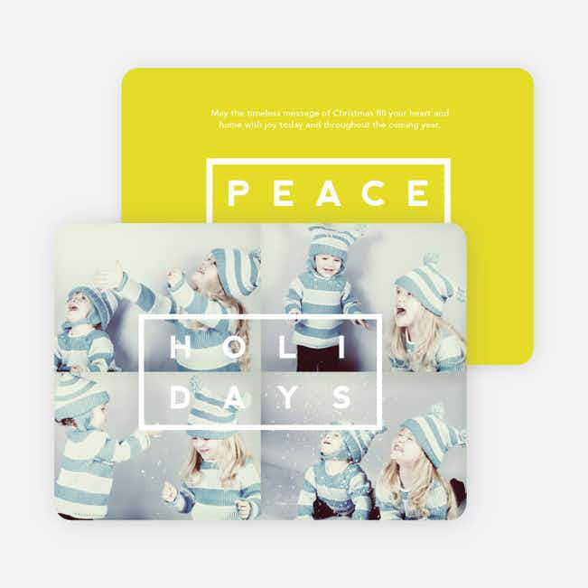 Holiday Block Photo Cards - Yellow