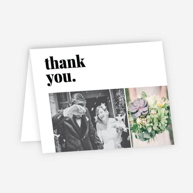 Bold in Word & Image Stationery and Thank You Cards - Black