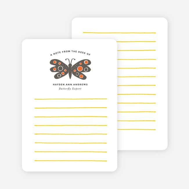 Butterfly Notecards - Orange
