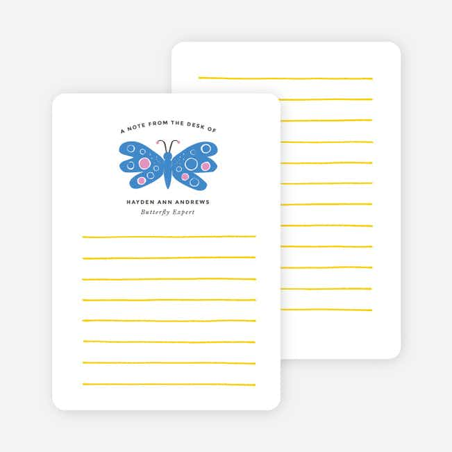 Butterfly Notecards - Purple