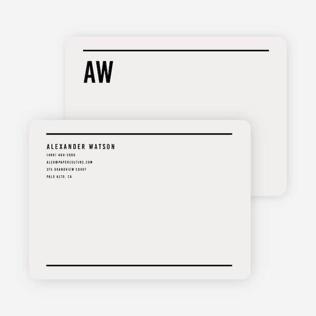 Modern Line Stationery - Main