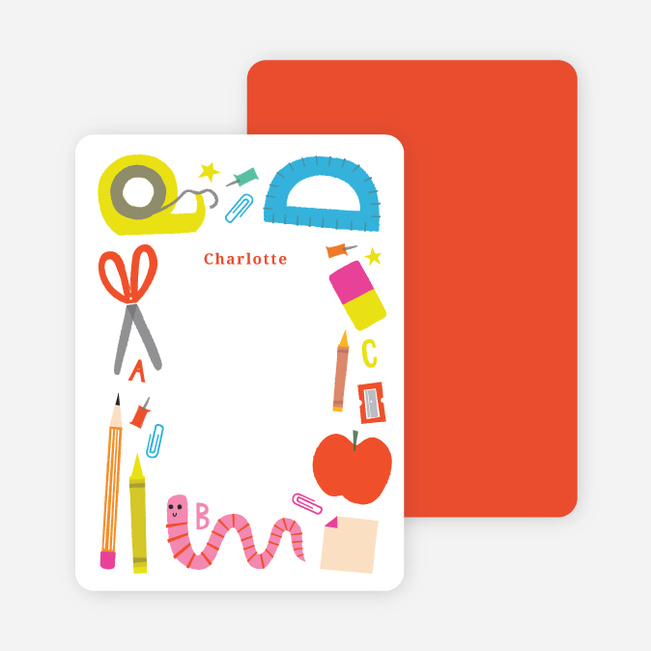 Executive College Stationery Note Cards: Kids Personalized Stationery And Note Cards