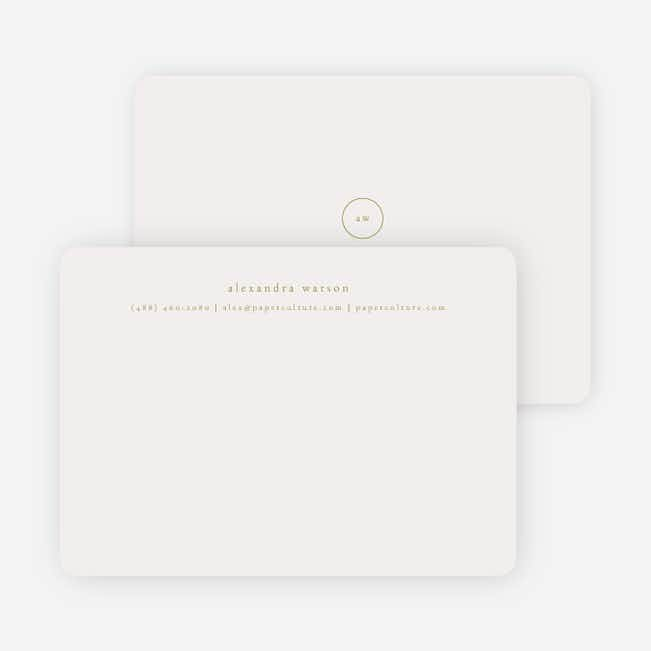 Simple & Elegant Stationery - Green