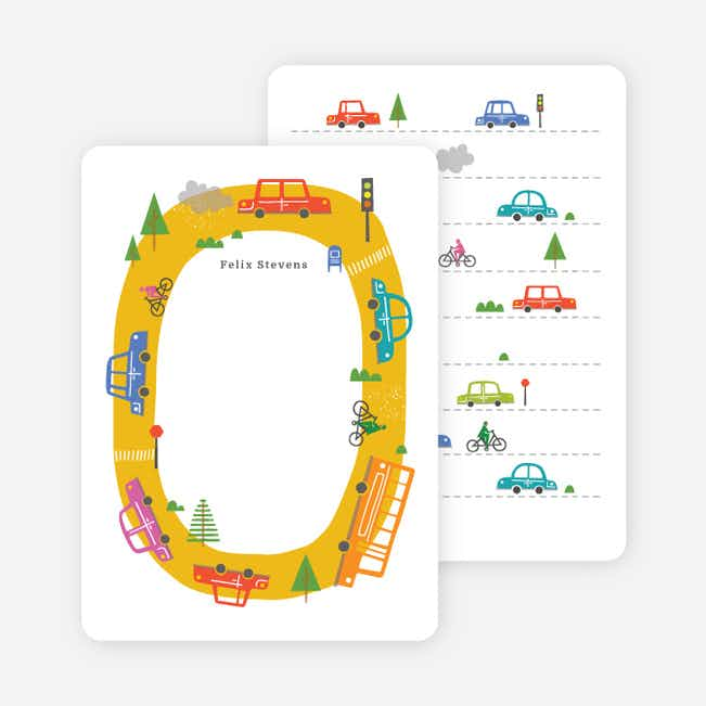 Traffic Jam Notecards - Yellow