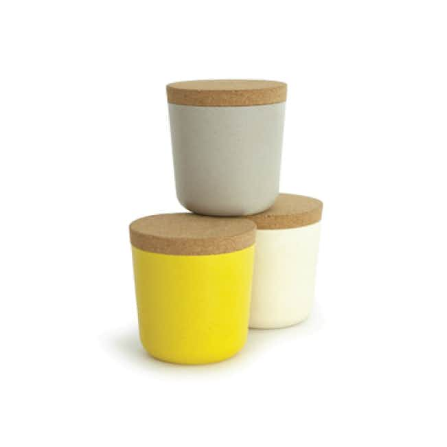 Bamboo Storage Jar Set - Multi