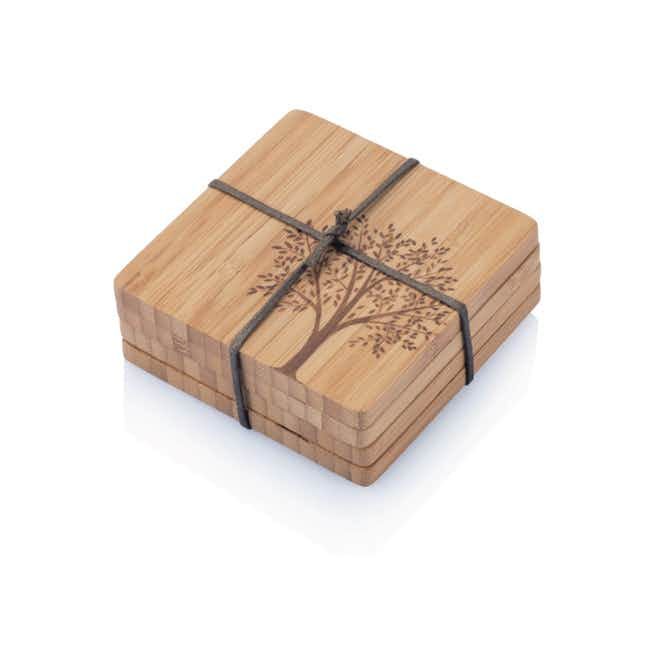 Bamboo Tree Coasters - Brown