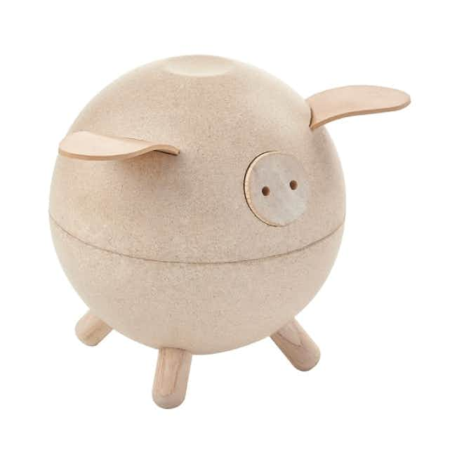Eco-Friendly Piggy Bank Toy - Brown