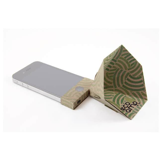 Mobile Phone Origami Speaker - Brown