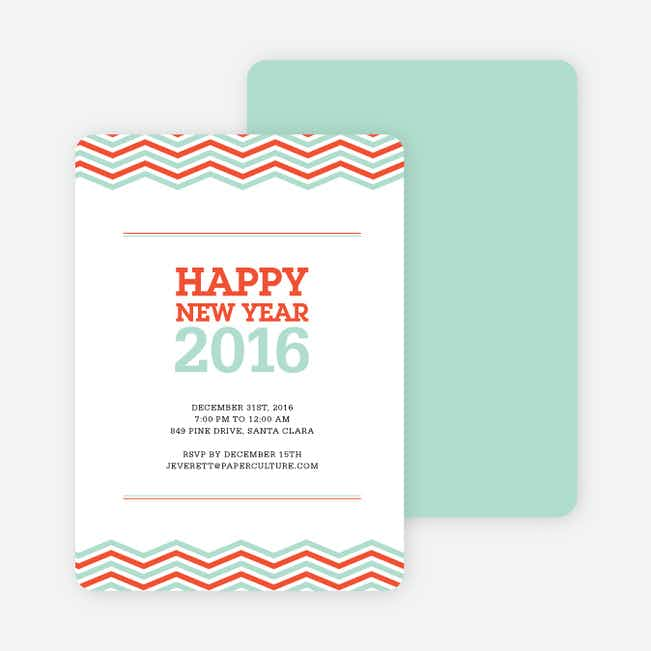 New Year Resolutions Party Invitations - Red