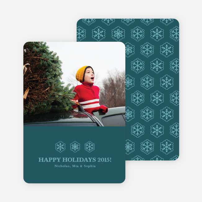 Snowflake Cards for the Holidays - Cadet Blue