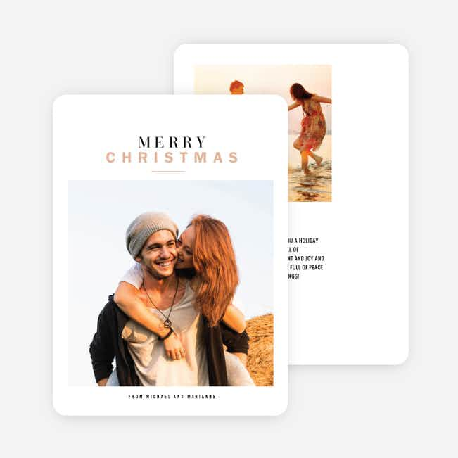 Sweet and Simple Holiday Cards - Beige