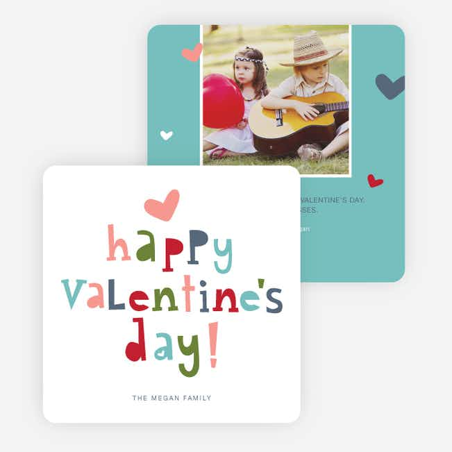Colorful Happy Valentine's Day Cards - Multi