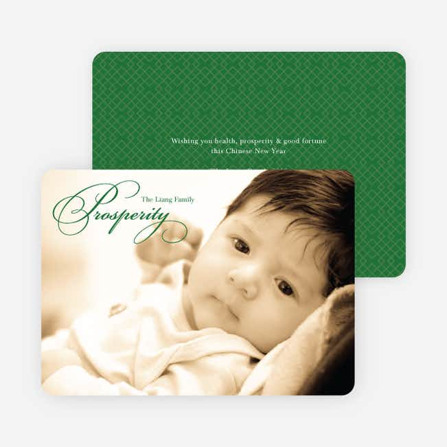 Prosperity Chinese New Year Cards - Green