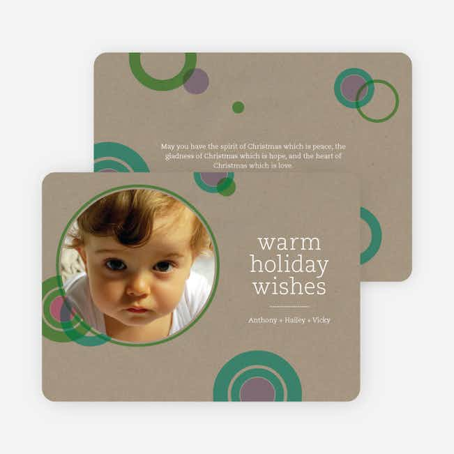 Circle Holiday Photo Cards - Mauve