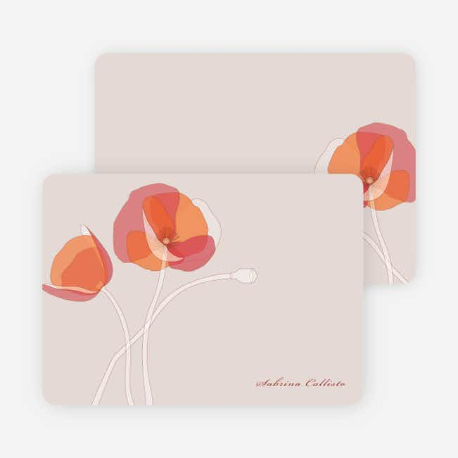 Elegant Flowers Personal Stationery - Burnt Orange