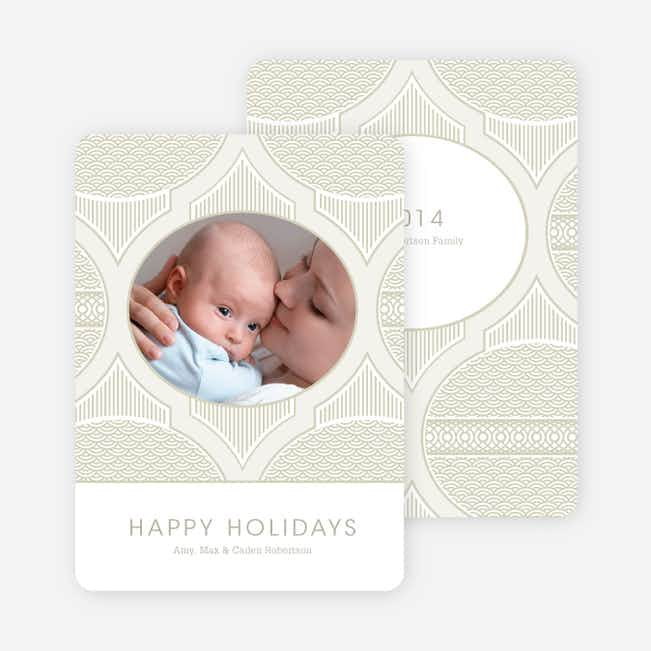 Happy Holidays Star Pattern - Pale Beige