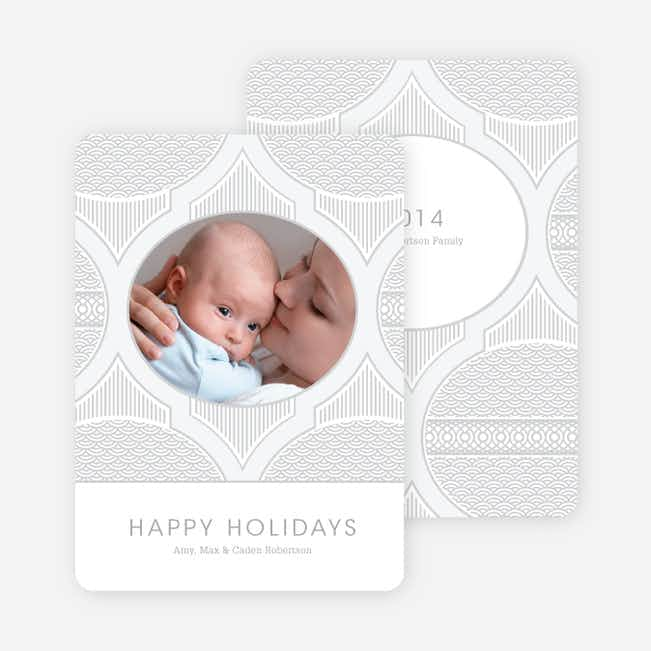Happy Holidays Star Pattern - Silver