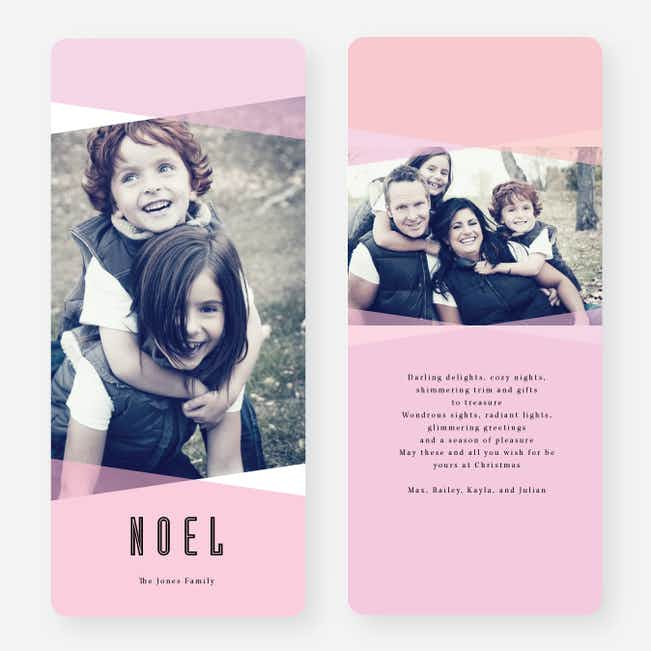 Holiday Shapes Joy Cards - Pink