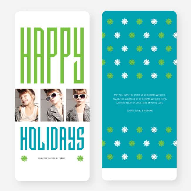 Hollywood Happy Holidays Triple Cards - Blue