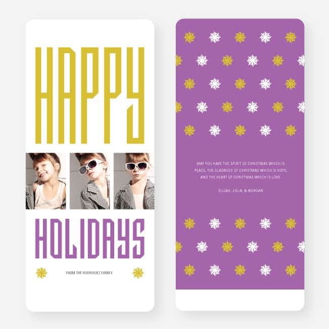 Hollywood Happy Holidays Triple Cards - Purple
